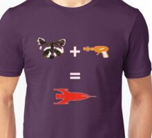 Raccoon + Laser gun = Rocket Unisex T-Shirt