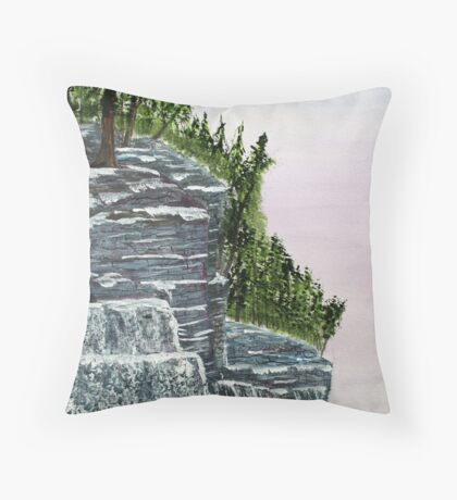 Lake Superior Ice Cliffs in the Winter Throw Pillow