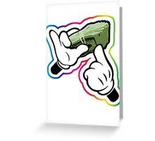 Mickey Hands Dollar Greeting Card