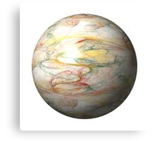 Fractal Globe Canvas Print