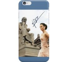 Socrates looking at Penélope iPhone Case/Skin