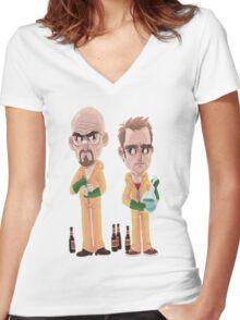 Breaking Bad - Jesse e Walter Women's Fitted V-Neck T-Shirt