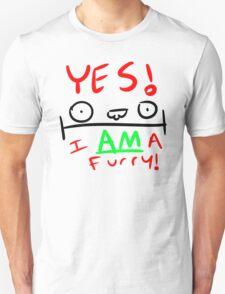 YES. I AM a furry! T-Shirt
