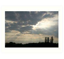 Break in the Clouds  Art Print