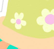 Cute Flowery Turtle Sticker