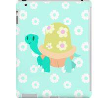 Cute Flowery Turtle iPad Case/Skin