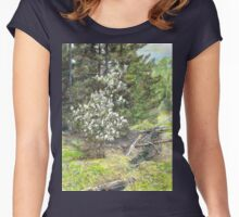 spring in the wood Women's Fitted Scoop T-Shirt