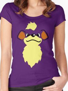 Flat growlithe Women's Fitted Scoop T-Shirt