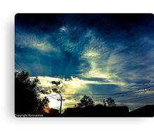 Haiku sky Canvas Print