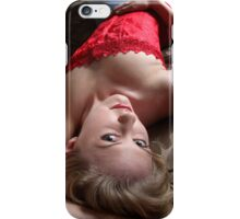 Sexy Blond Lying iPhone Case/Skin