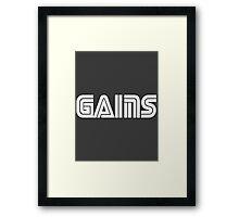 Sega Gains Framed Print