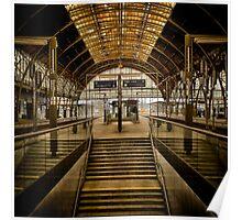 Prague train station - no rush, no hurry Poster