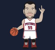 NBAToon of Josh Harrellson, player of Detroit PIstons by D4RK0