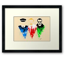 Three Flavours Cornetto Framed Print