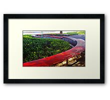 Park Bench in Perth Framed Print