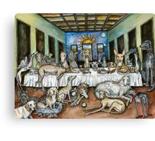 The Never-ending Supper Canvas Print