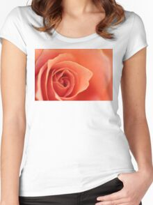 Soft Rose Petals Women's Fitted Scoop T-Shirt