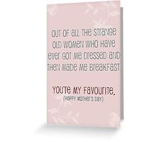 Favourite... Greeting Card