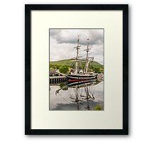 Ship, Sail training vessel, TS Royalist, Docked, Neptunes Staircase, Banavie, Scotland Framed Print