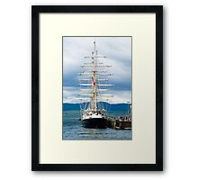 Ship, Sailing vessel, SV Tenacious, Docked, North pier, Oban  Framed Print