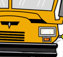 The safer school bus Sticker