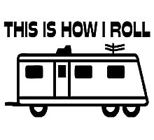 This Is How I Roll Motorhome Photographic Print