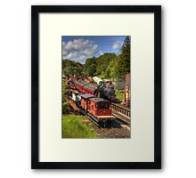 Crowds at Goathland Station Framed Print
