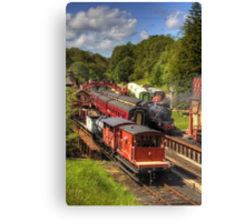 Crowds at Goathland Station Canvas Print