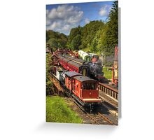 Crowds at Goathland Station Greeting Card