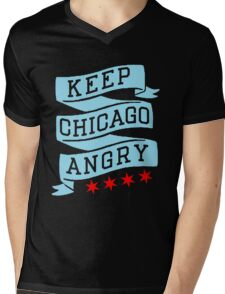 Keep Chicago Angry Mens V-Neck T-Shirt