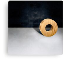 Circle Block w Hole Canvas Print