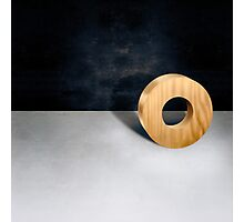 Circle Block w Hole Photographic Print