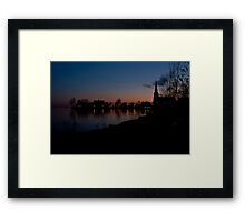 Pointe Claire Sunset Framed Print