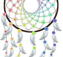 Flower Rainbow Dream Catcher by MichelleElaine Smith