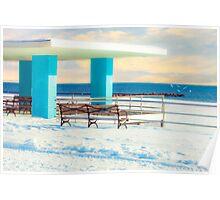 Winter Boardwalk Shelter Poster