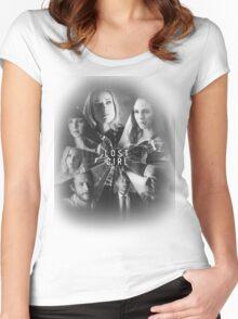 Lost girl - broken glass [black] Women's Fitted Scoop T-Shirt