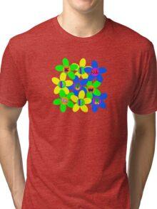 Flower Power 60s-70s Tri-blend T-Shirt