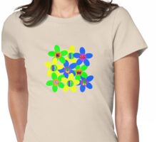 Flower Power 60s-70s Womens Fitted T-Shirt