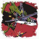 Dino War by sashakeen