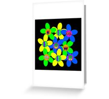 Flower Power 60s-70s Greeting Card