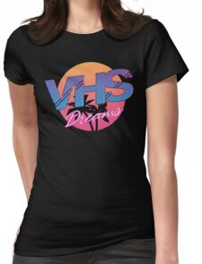 VHS Dreams Summer Logo Womens Fitted T-Shirt