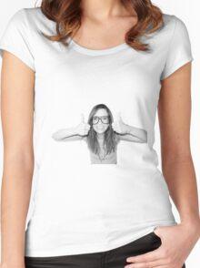 Happy Kristen Wiig Women's Fitted Scoop T-Shirt
