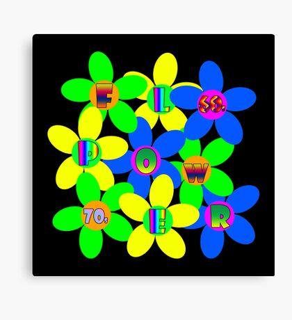 Flower Power 60s-70s T (back) Canvas Print