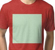 Geometric blue pixel pattern Tri-blend T-Shirt