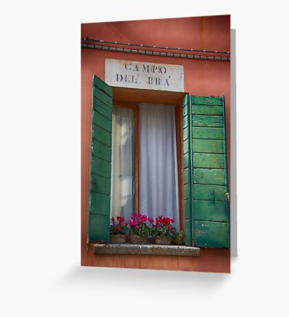 Italian window / Fenêtre italienne Greeting Card