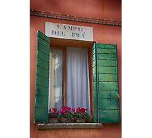 Italian window / Fenêtre italienne Photographic Print