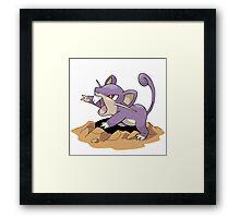 Dig Rat Framed Print