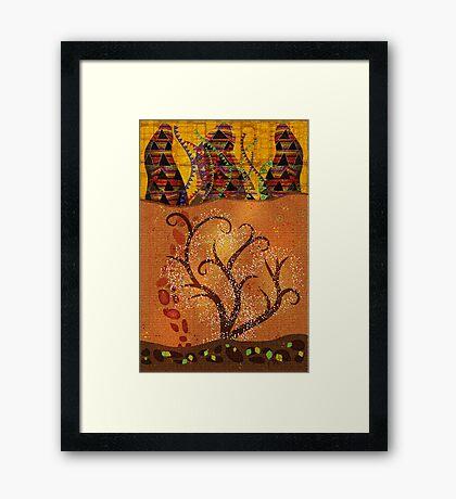 Colorado Symbolism Framed Print