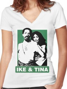 Ike and Tina Women's Fitted V-Neck T-Shirt