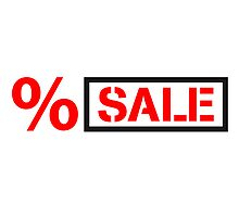 Sale sale percent reduced price tag by Style-O-Mat